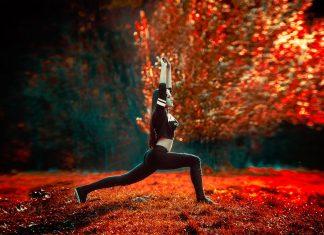 Yoga høst rødt